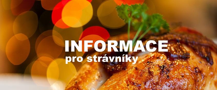Informace pro strávníky školní jídelny