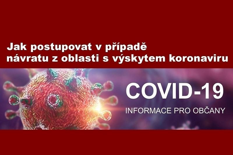 Postupu při návratu z oblasti s výskytem koronaviru